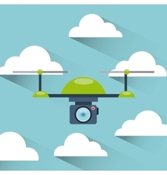 sky with drone vector image