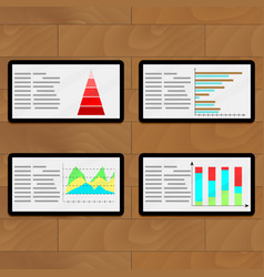 Statistical file on tablets vector
