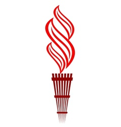 Stylized flaming torch vector image vector image