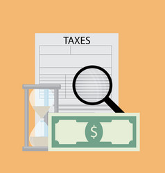 tax pay and analyze vector image