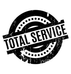 Total service rubber stamp vector