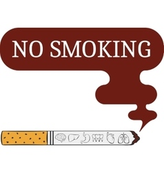 Label o smoking sticker vector