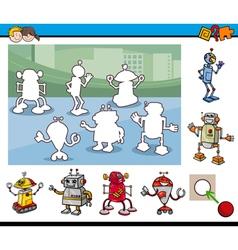 cartoon educational game vector image