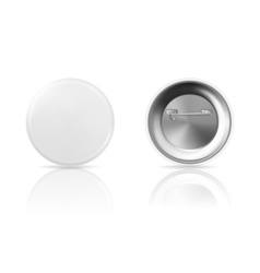 Blank button badge with reflection front and back vector