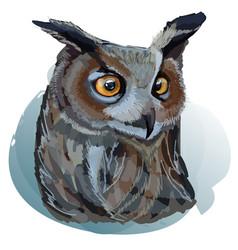Realistic eagle owl vector