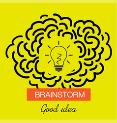 Brainstorming creative good idea icon vector