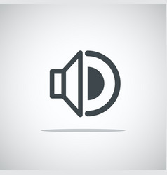 Modern media web icon volume vector