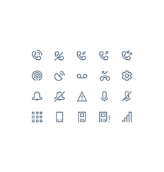 Phone logs icon line vector