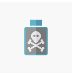 Poison flat icon vector