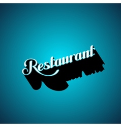 Restaurant retro label vector