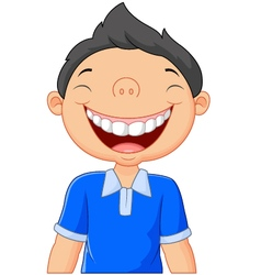 Cartoon boy laughing vector