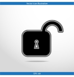Padlock web flat icon vector