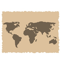 Old world map vector