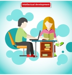 Intellectual development flat design concept vector