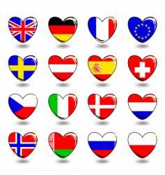 heart flag vector image