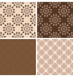 Coffee seamless patterns set vector