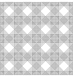 Pattern black and white background with rhombus vector