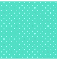Blue green mint star polka dots background vector