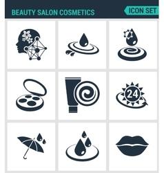 Set of modern icons beauty salon cosmetics vector