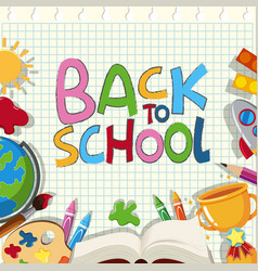 Back to school poster design with different vector