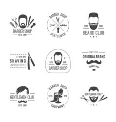 Barber logos set vector