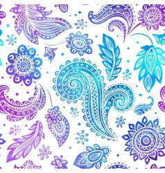 Beautiful watercolor floral seamless pattern vector image