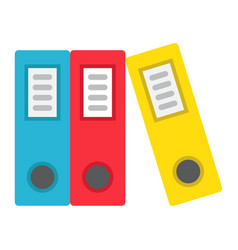 Binders flat icon business and folder vector