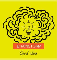 brainstorming creative good idea icon vector image vector image