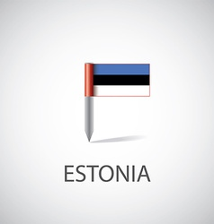 estonia flag pin vector image
