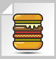 Fast food icons 5 vector