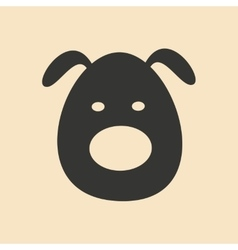 Flat in black and white mobile application dog vector