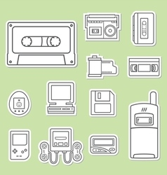 gadget of 90s icon vector image vector image