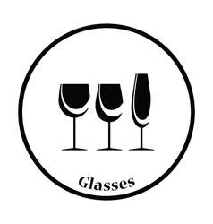 Glasses set icon vector image vector image