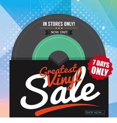 Greatest Vinyl Sale Banner vector image vector image