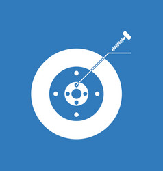 Icon wheel and screw vector