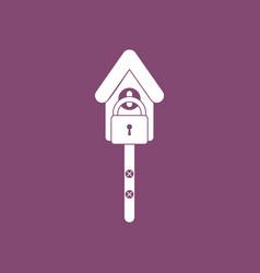 Icon wooden pethouse vector