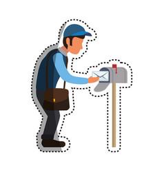 mailman delivery service vector image vector image