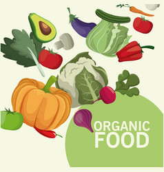Organic food kitchen products image vector
