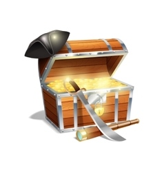 Pirate treasure chest vector