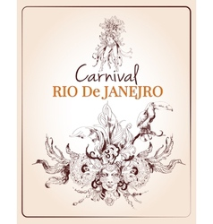 Rio carnival poster vector image