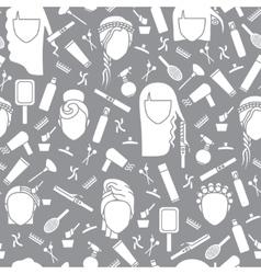 Seamless pattern barbershop vector