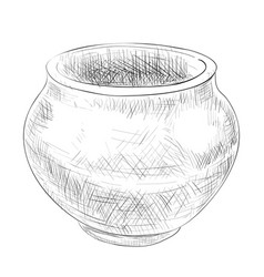 sketch of pot vector image vector image