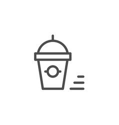 Smoothie line icon vector
