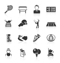 Tennis icons black vector