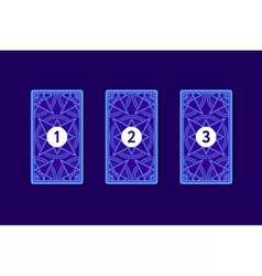 Three card tarot spread Reverse side vector image