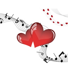 valentine music vector image vector image