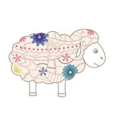 Vintage sheep vector image vector image