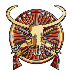 wild west badge vector image vector image