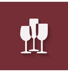 wine menu design element vector image