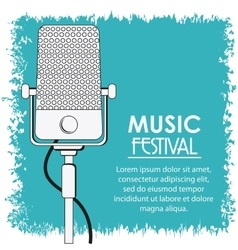 Microphone music sound media festival icon vector